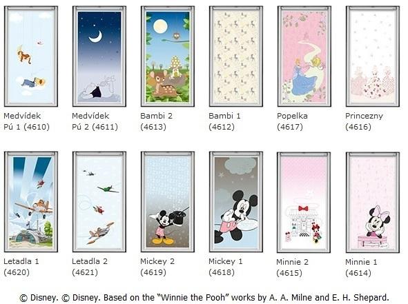 Výběr designu kolekce Disney