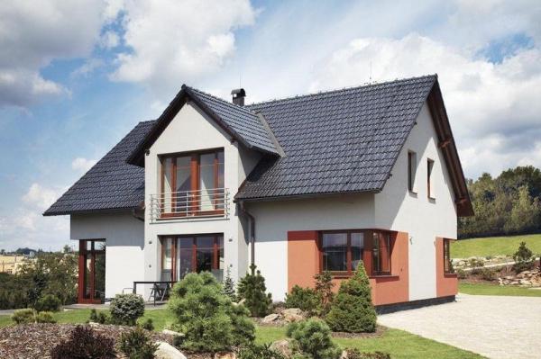 Tondach Falcovka 11 - Rodinný dům, Glazura Břidlicově černá