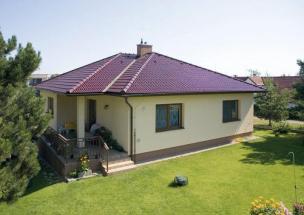 Tondach Falcovka 11 - Rodinný dům, Glazura Kaštanově hnědá
