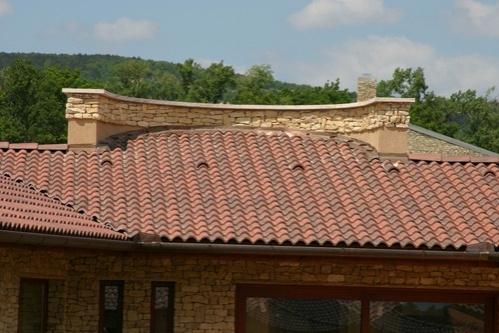 Terran Coppo Antická červená - detail na střeše