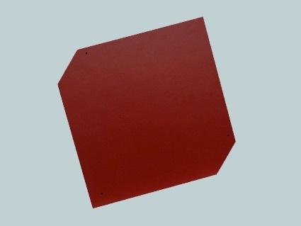 Česká šablona - detail červené krytiny