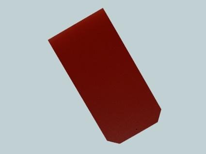 Dánský obdélník - detail červené krytiny