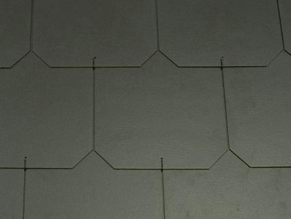 Dánský obdélník - ukázka černé střechy