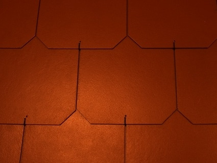 Dánský obdélník - ukázka červené střechy
