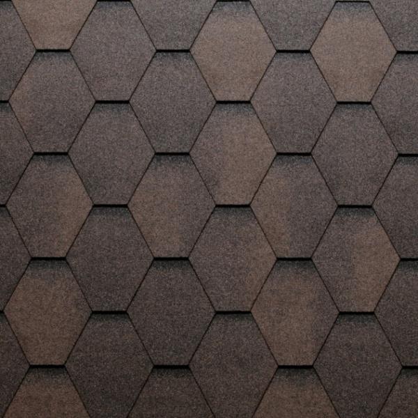 Eco Roof Hexagonal - hnědá