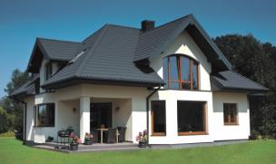 Plechová krytina Satjam, Roof-černá - ukázka realizace