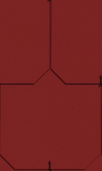 Dánský obdélník - červená