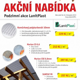 Akční podzimní nabídka LanitPlast!
