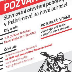 Slavnostní otevření pobočky v Pelhřimově na nové adrese!