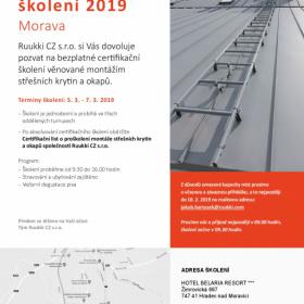Ruukki - certifikační školení 2019 - MORAVA