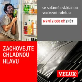 Získejte zpět 2000 Kč za nákup solární rolety VELUX