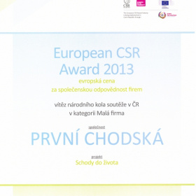 European CSR Award 2013 - článek Hospodářské noviny