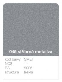 Lindab click - ukázka barvy Premium - stříbrná metalíza