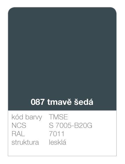 Lindab click - ukázka barvy Premium - tmavě šedá