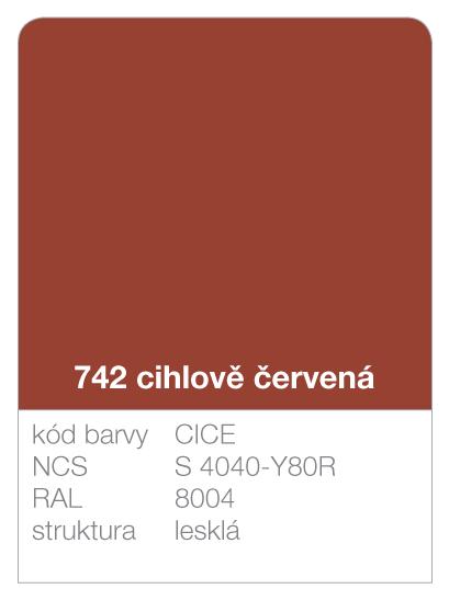 Lindab click - ukázka barvy Premium - cihlově červená