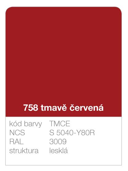 Lindab click - ukázka barvy Premium - tmavě červená