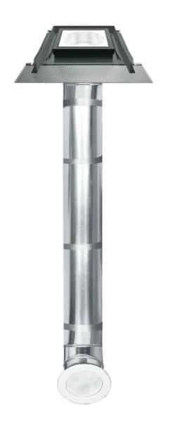 FAKRO - SR_ s plochým zasklením a pevným světlovodným tubusem