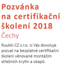 Certifikační školení montáže střešních krytin Ruukki