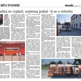 Rozhovor s Vladimírem Zábranským v Deníku JČ
